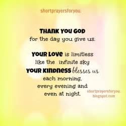 short thanksgiving prayers blessings thank you god for the day you give us short prayers for you
