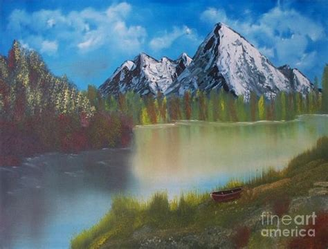 bob ross painting lake bob ross mountain lake 0 painting at paintingforsale me