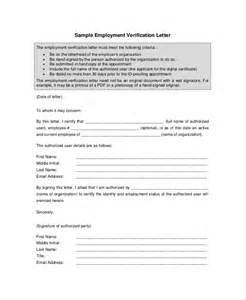 employment verification letter for loan sles