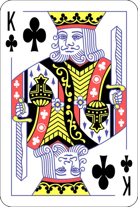 fileenglish pattern king  clubssvg wikimedia commons