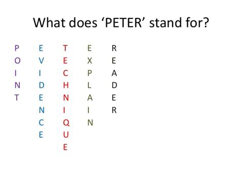 what does it to be a how to nail a peter paragraph