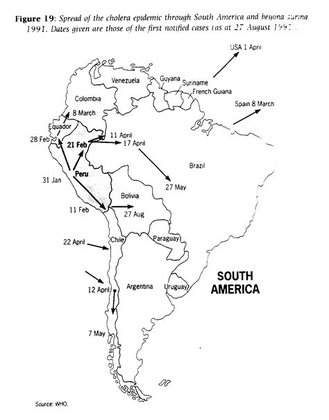 south america map answers industrialization and health