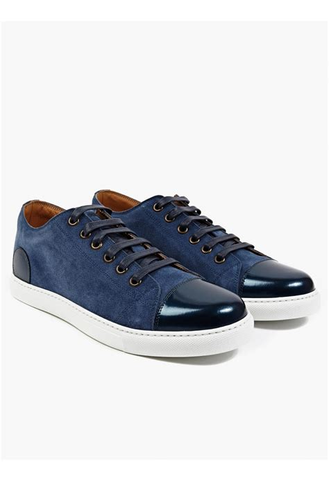 marc sneakers mens marc men s blue suede sneakers in blue for lyst