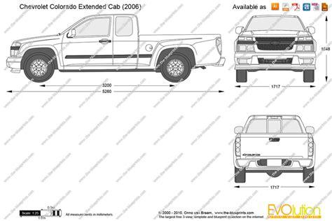 chevy colorado bed dimensions the blueprints com vector drawing chevrolet colorado