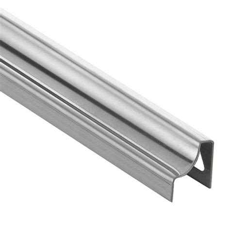 brushed steel floor l schluter eck e brushed stainless steel 1 4 in x 6 ft 7
