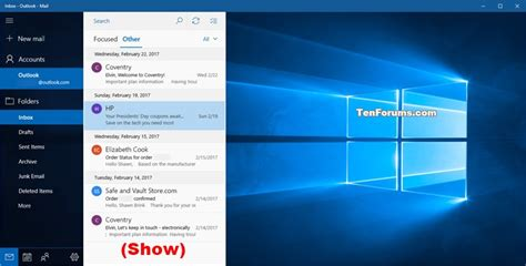 windows 10 mail app tutorial turn on or off message preview text in windows 10 mail app