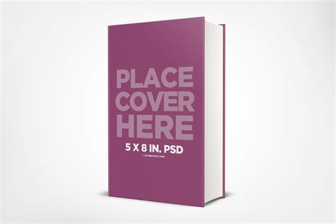 5 x 8 in hardcover book mockup with thick spine covervault