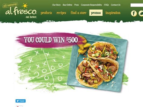 Recipe Com Sweepstakes - the al fresco appetizer blitz game day recipe sweepstakes