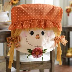 Fall Chair Covers by Scarecrows And Decoupage On