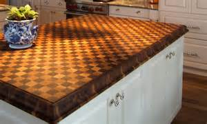 Butcherblock island countertop by grothouse contemporary kitchen