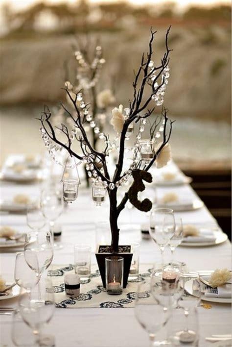 Décoration table pour un mariage hivernal