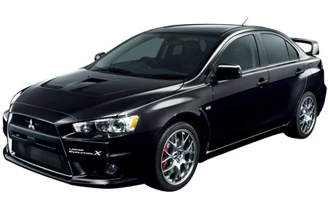 black mitsubishi lancer mitsubishi lancer evolution x technical details history