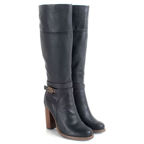 scholl black therisa s knee high boot