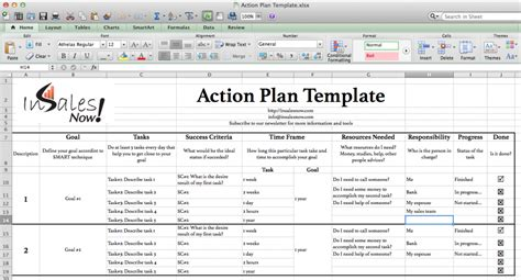 perfect business action plan template exle in excel