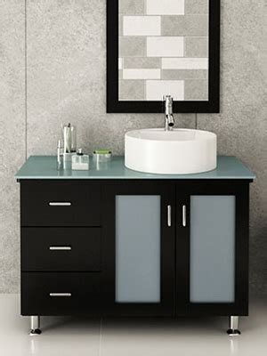 39 quot lune vanity with green glass top espresso bathgems