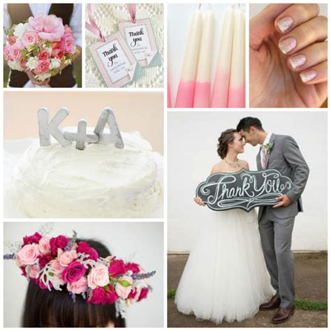 wedding color idea pink and grey white silver oooo now wedding color schemes pink and grey allfreediyweddings com