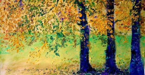 Trees Admirer autumn trees in painting by hungarian artist gui demeter