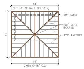 free hip roof shed plans