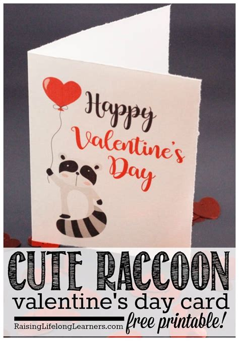 valentines day cards email raccoon s day card with free printable
