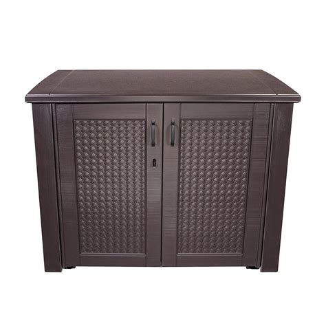 Rubbermaid 121 Gallon Vertical Storage Shed by Rubbermaid Outdoor Storage Cabinet Bar Cabinet