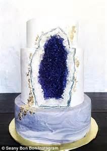 australian trend for crystal quartz filled 'geode wedding