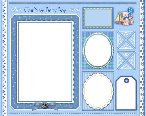 the gallery for gt baby scrapbook page templates