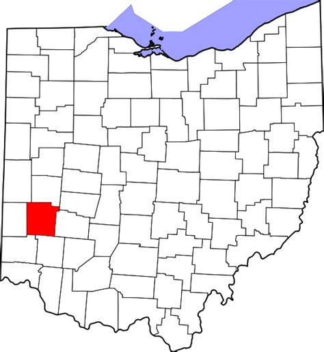 Montgomery County Oh Records File Map Of Ohio Highlighting Montgomery County Svg