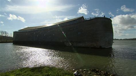ark large boat life size noah s ark replica draws tourists in netherlands