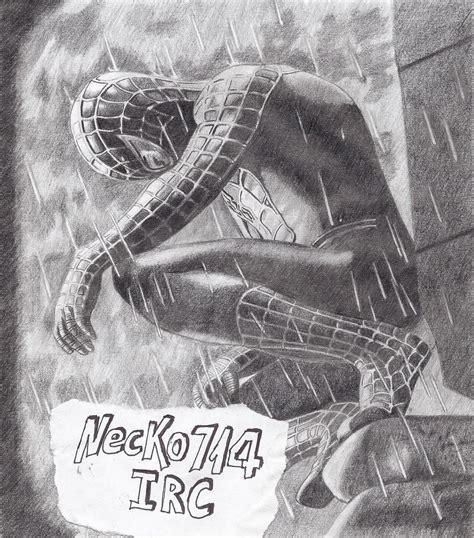 imagenes a blanco y negro de spiderman spiderman negro dibujo propio arte taringa