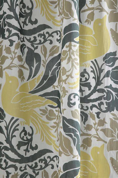 curtains birds theme bird flourish curtain