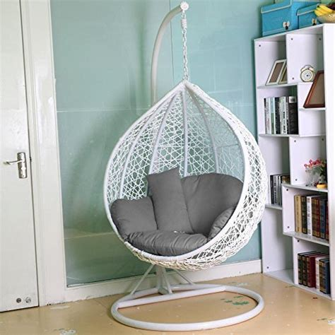 swinging chair for bedroom swing hanging egg chair with hanging chair outdoor amazon co uk