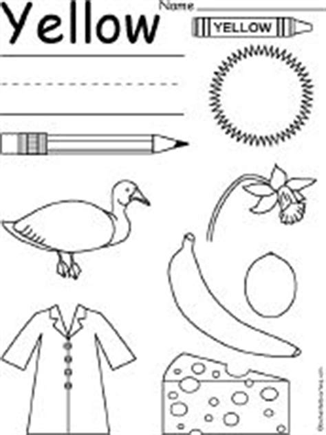 preschool yellow coloring pages color sun yellow and trace word yellow tuesday school
