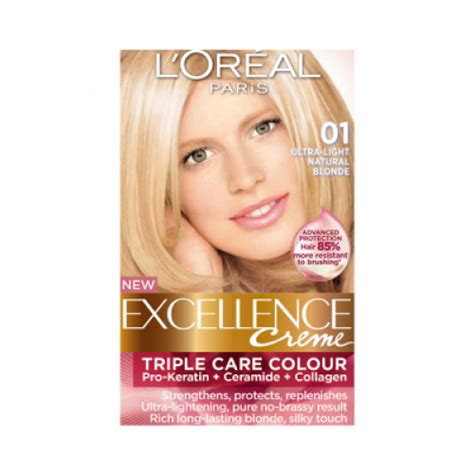 ultra light blonde hair color pictures loreal excellence creme 01 ultra light natural blonde