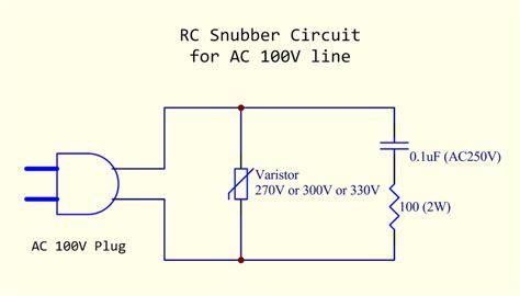 snubber diode calculation 電源ライン ノイズ除去用rcスナバ回路