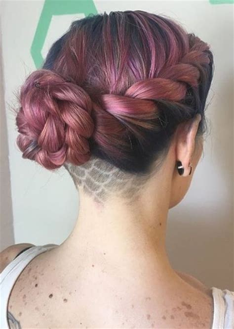 braided styles up do for shaved hair on the sides short updo hairstyles for prom hairstyles ideas