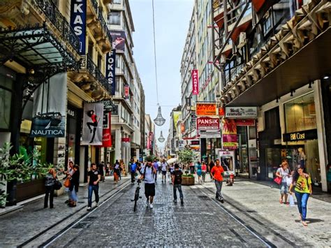ermou athens main shopping street