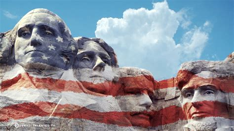 photoshop how to paint usa flag on a mount rushmore scruptured faces