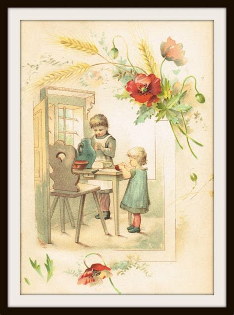 antique graphics wednesday   children image