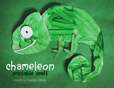 reptile crafts for chameleon printable craft