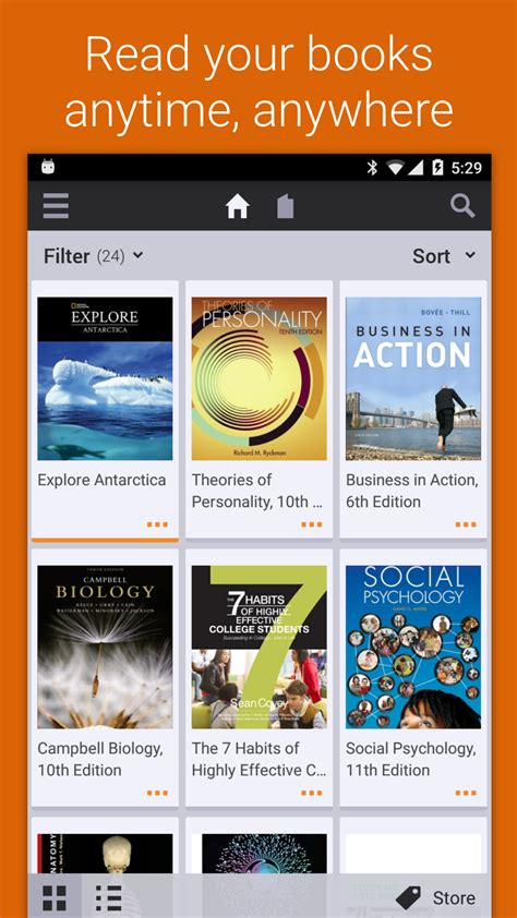 bookshelf appstore for android