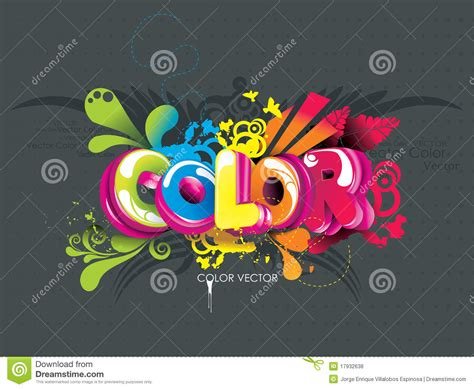 world color color word stock vector image of image botany