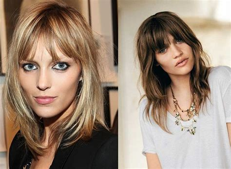 bangs that thin your face modern hairstyles according to face type fashionbuzzer com