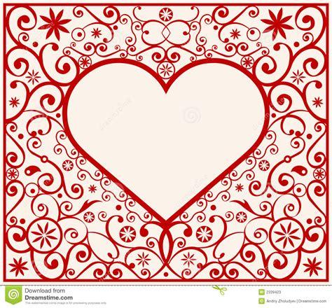heart pattern frame pattern heart frame stock vector illustration of decor