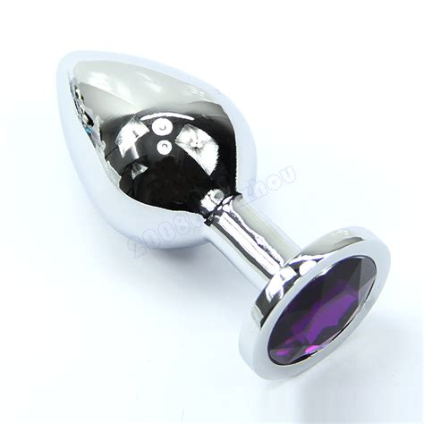 toy plug insert metal plated jeweled stainless