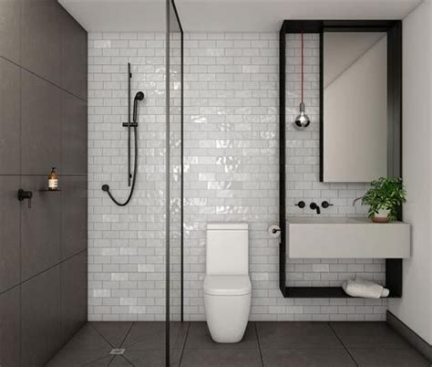 minimal bathroom black shower screen channel from collins queen