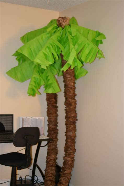 How To Make Paper Palm Leaves - 25 best ideas about palm tree decorations on