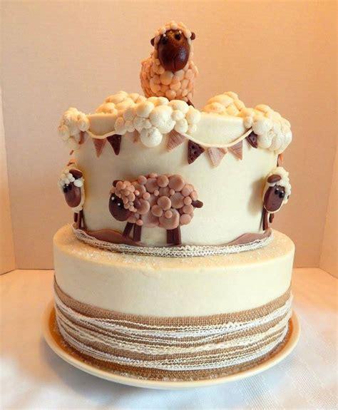 sheep baby shower cake cakecentral com