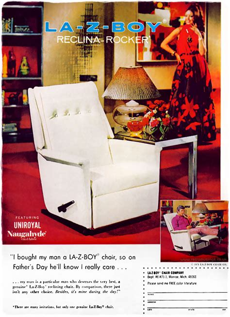 la  boy chairs adverts  retro musings