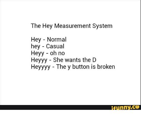 Heyyy Meme - the hey measurement system hey normal hey casual heyy oh