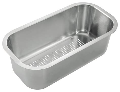 stainless steel colander insert modern kitchen sink